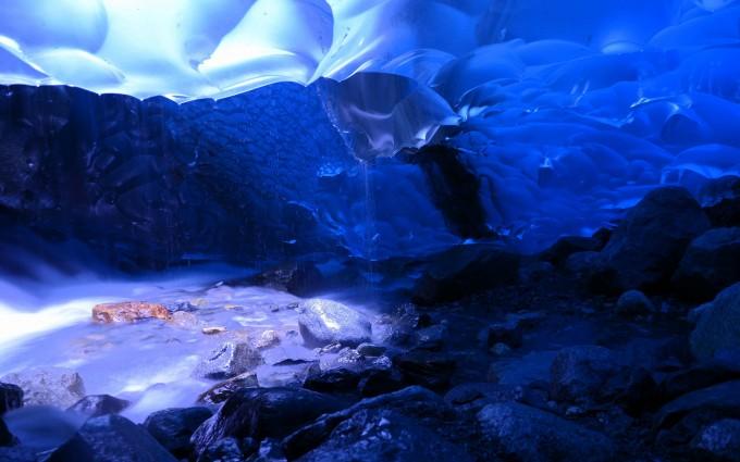 cave wallpaper blue