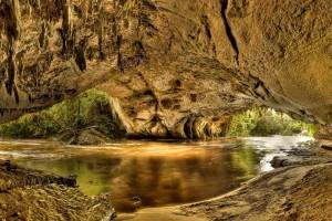 cave wallpaper brown