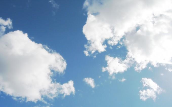 cloud background blue