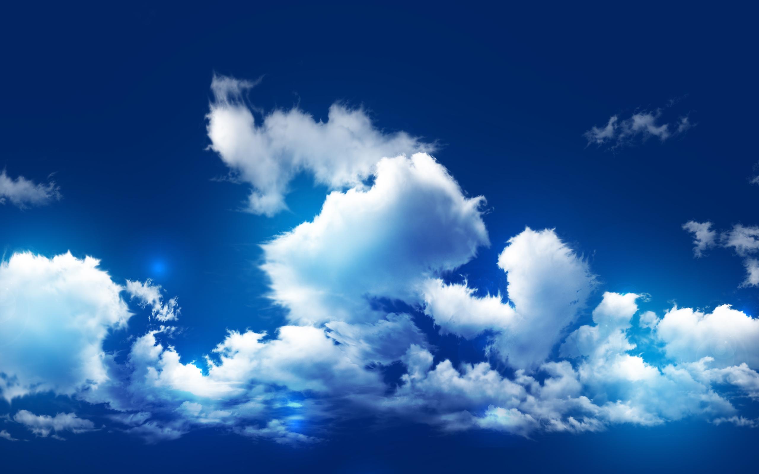 cloud wallpaper blue