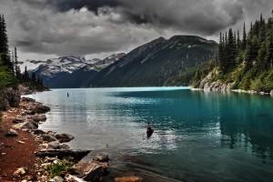 cloud wallpaper lake