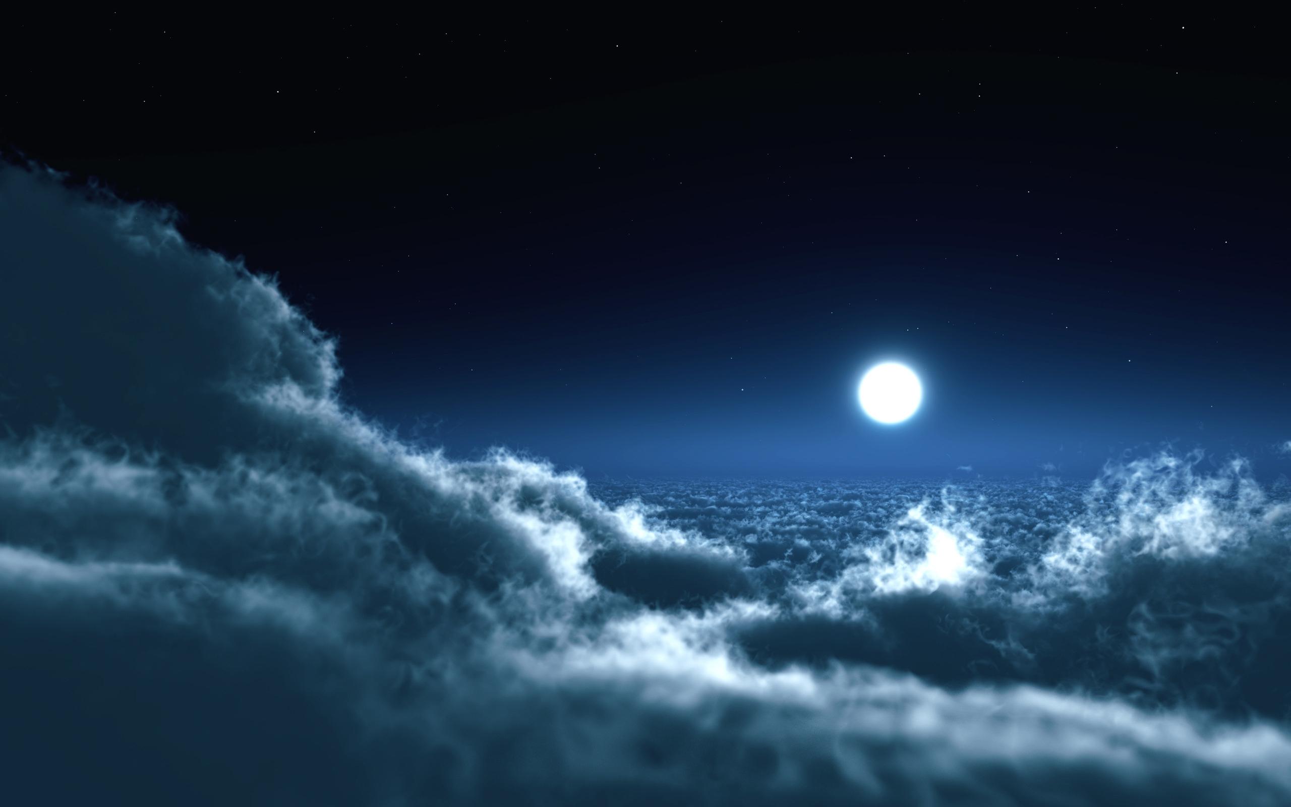 cloud wallpaper night