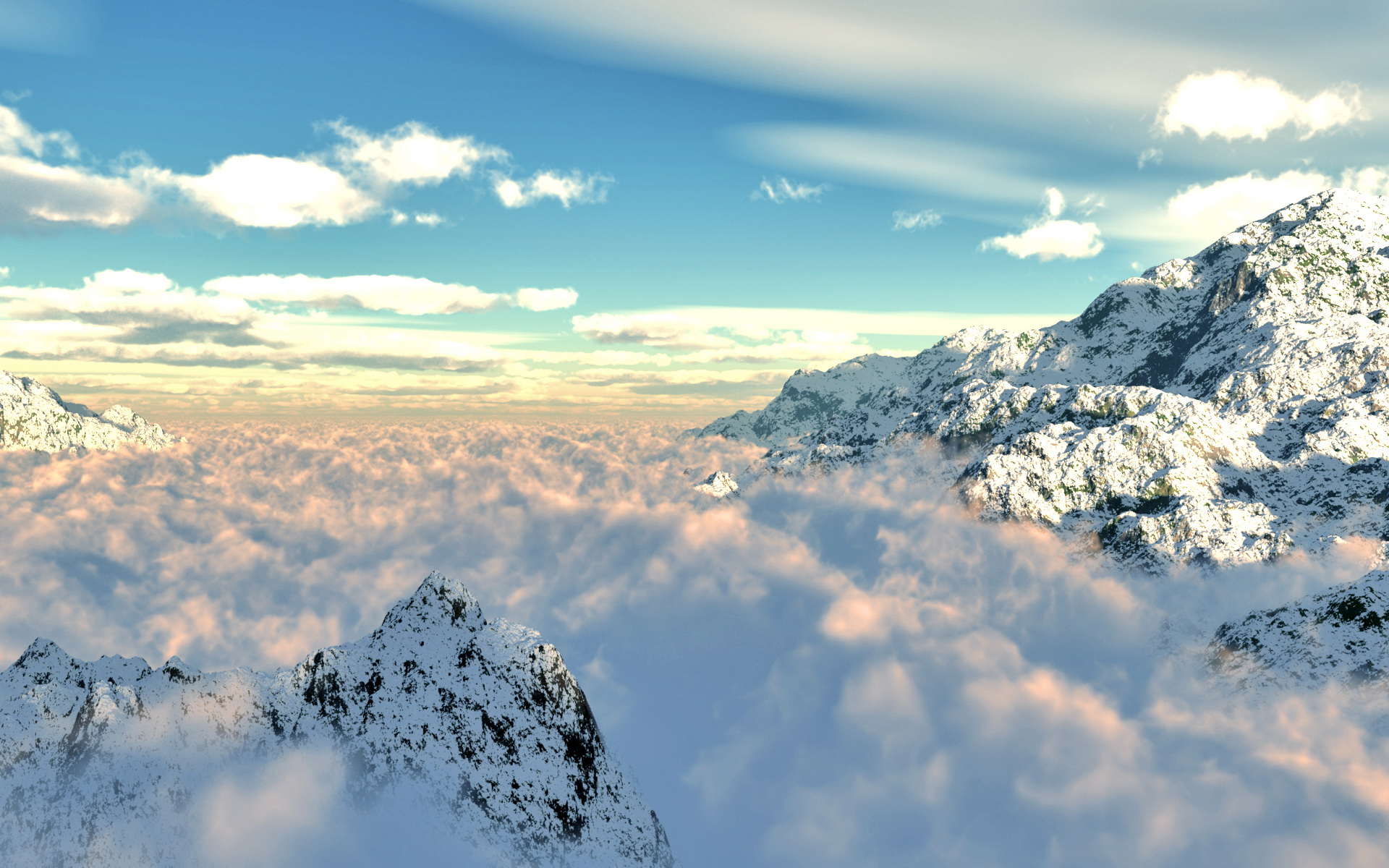 mountain snow clouds - photo #8