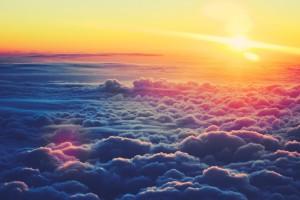 clouds sunset wallpaper hd