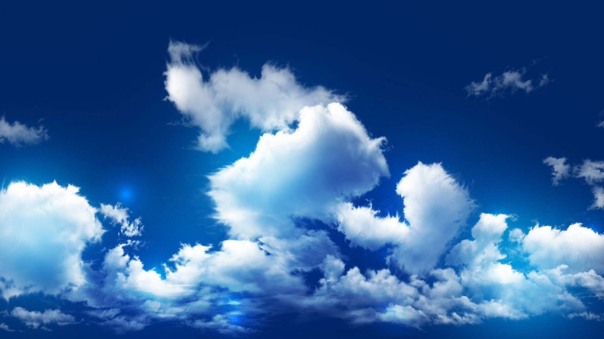 clouds wallpaper blue