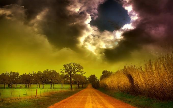clouds wallpaper landscape