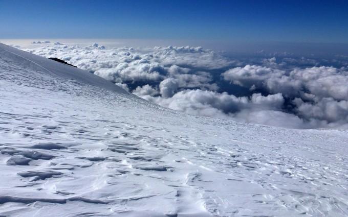 clouds wallpaper snow
