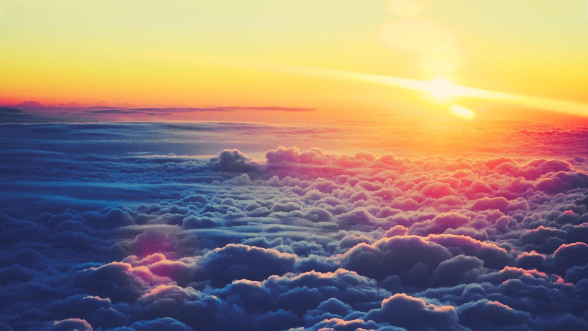 clouds wallpaper sunrise