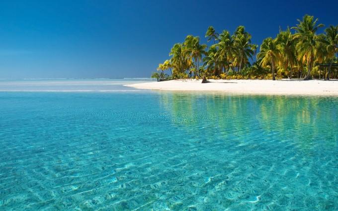 crystal clear beach