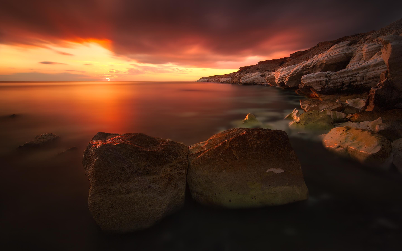 dark sunset wallpaper