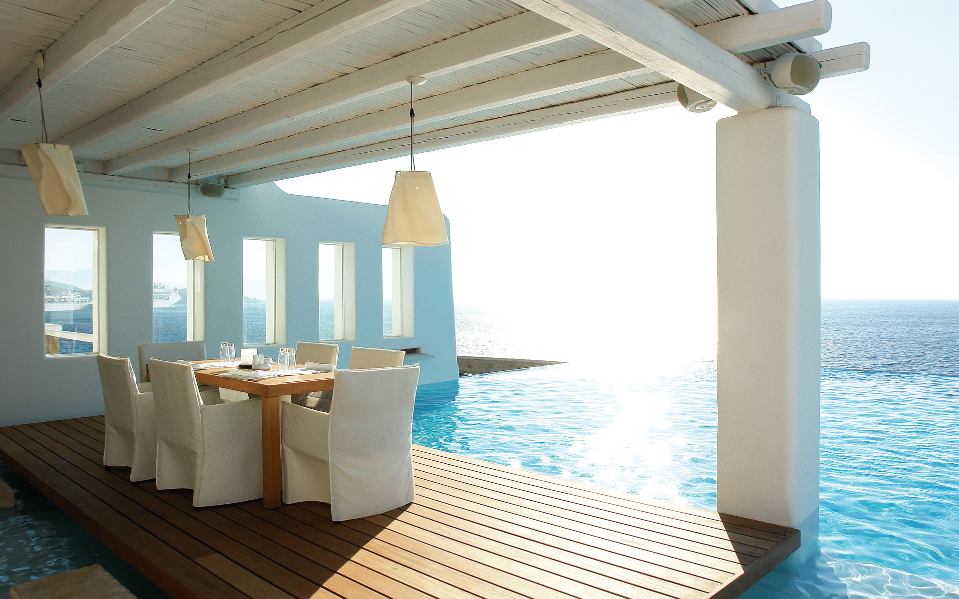 dinner over sea