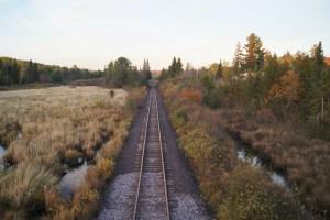 fall wallpaper rail track