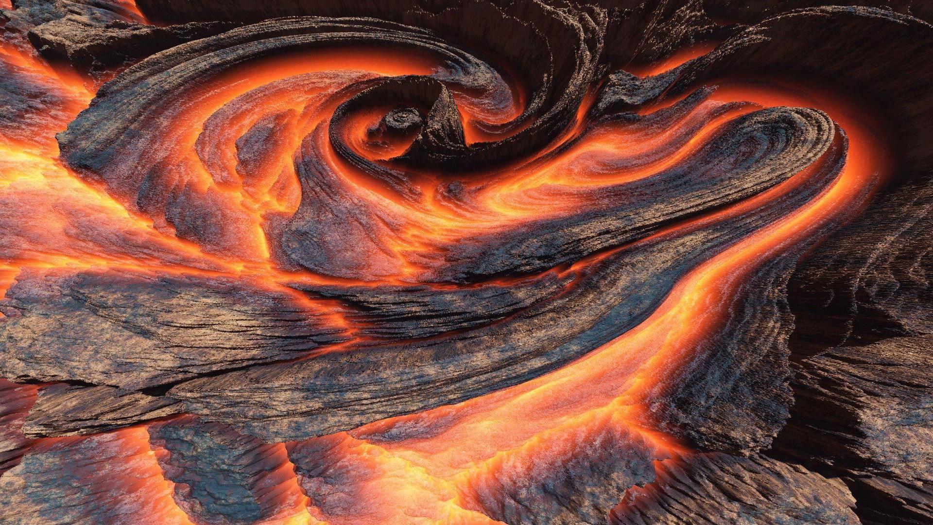 free volcano wallpaper