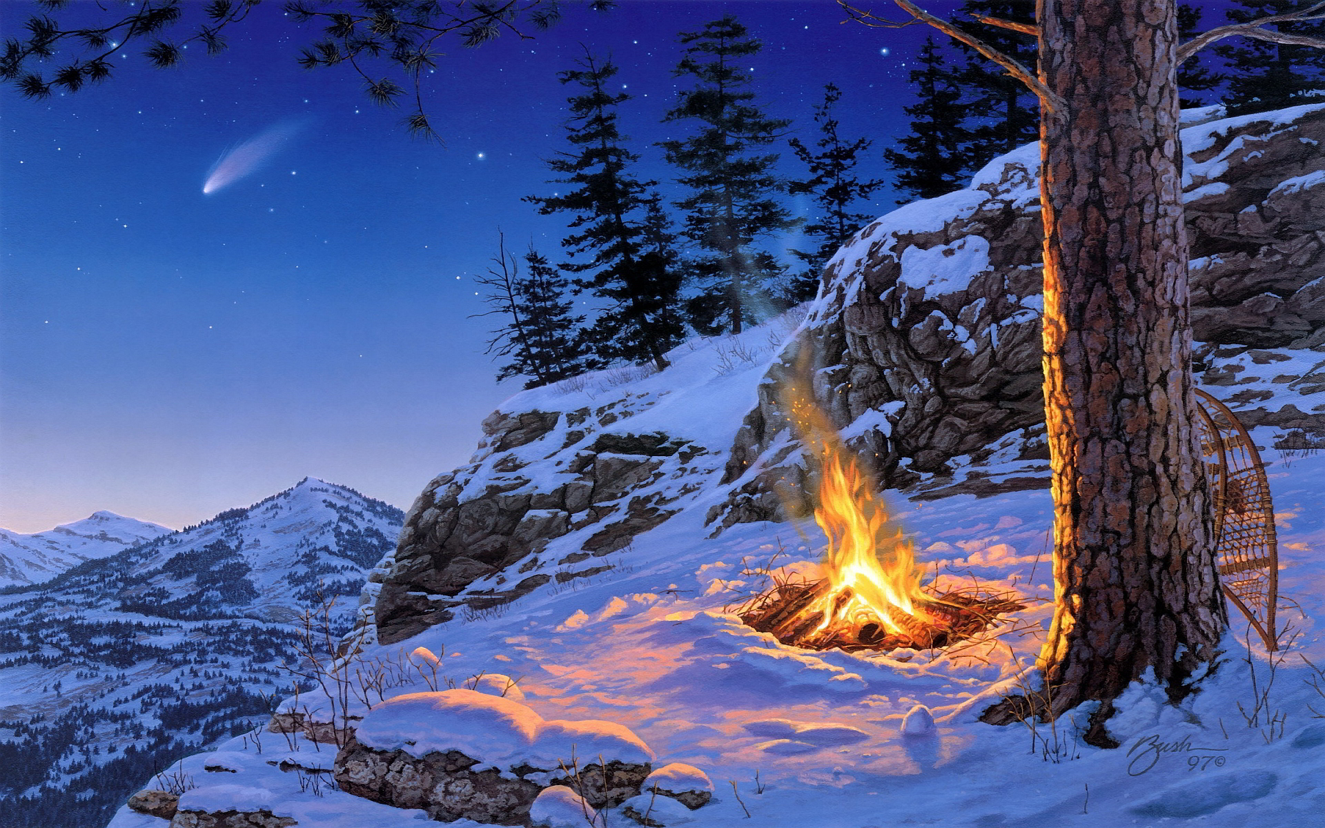 free winter desktop
