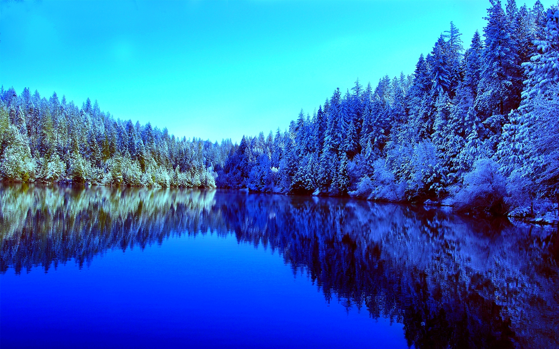 frosty wallpaper river nature