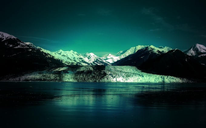 glacier wallpaper green