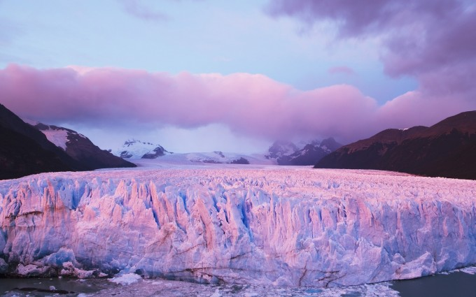 glacier wallpaper purple