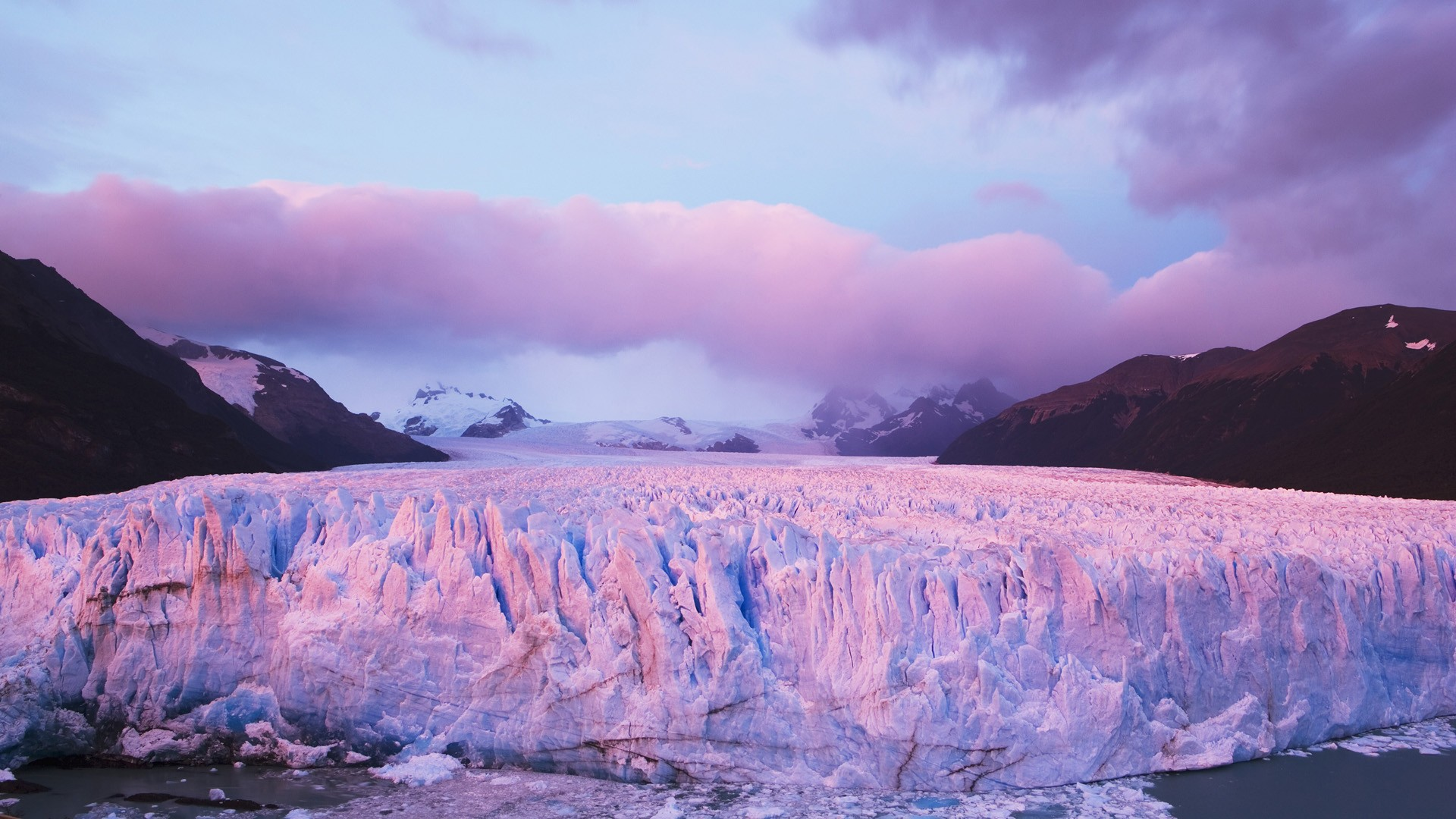 glacier wallpaper purple