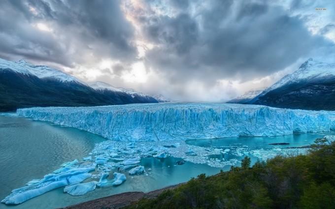glacier wallpaper winter