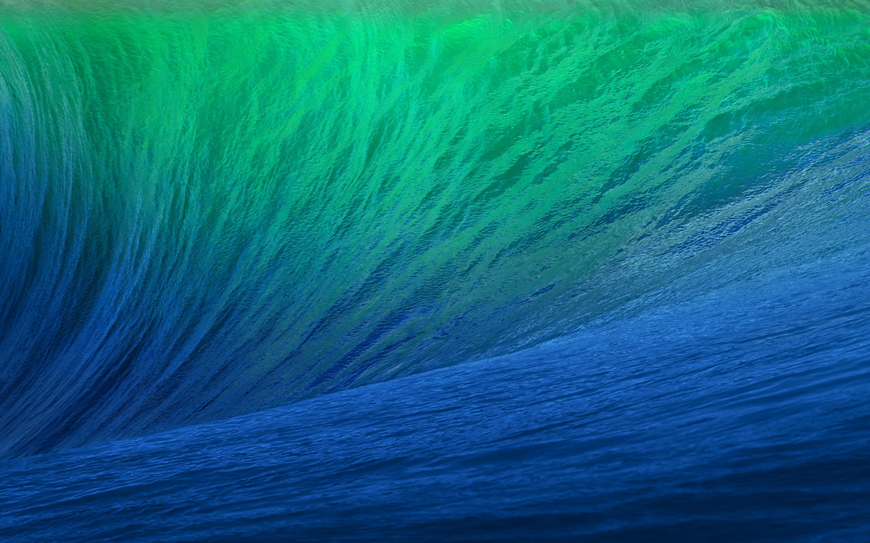 green blue waves