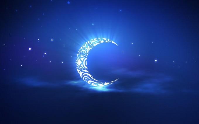 hd wallpaper moon crescent