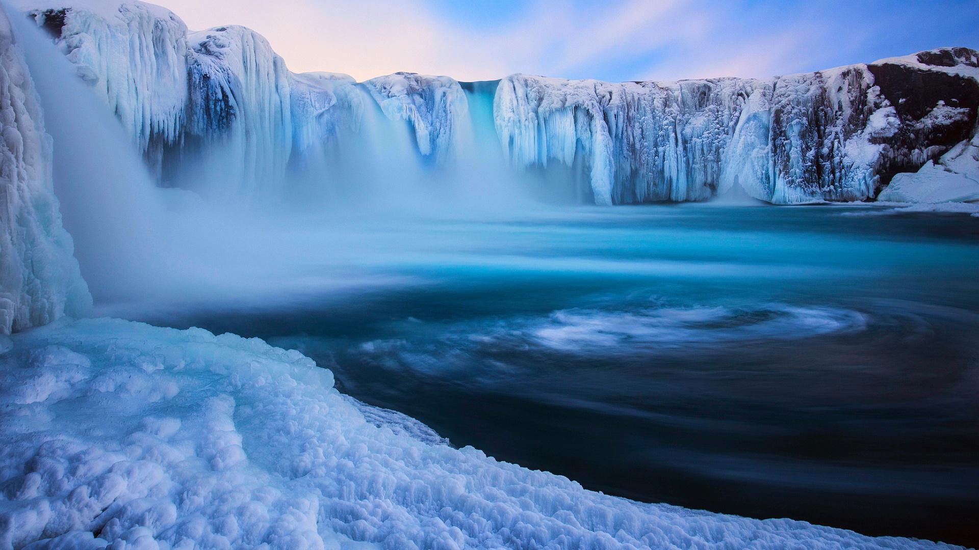 iceland wallpaper waterfall godafoss