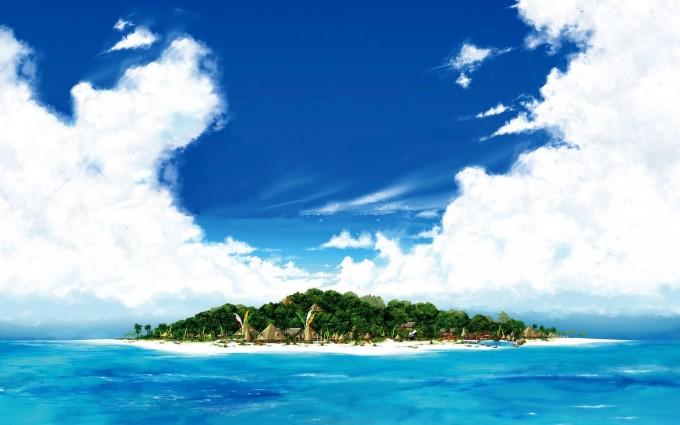 island wallpaper vacation