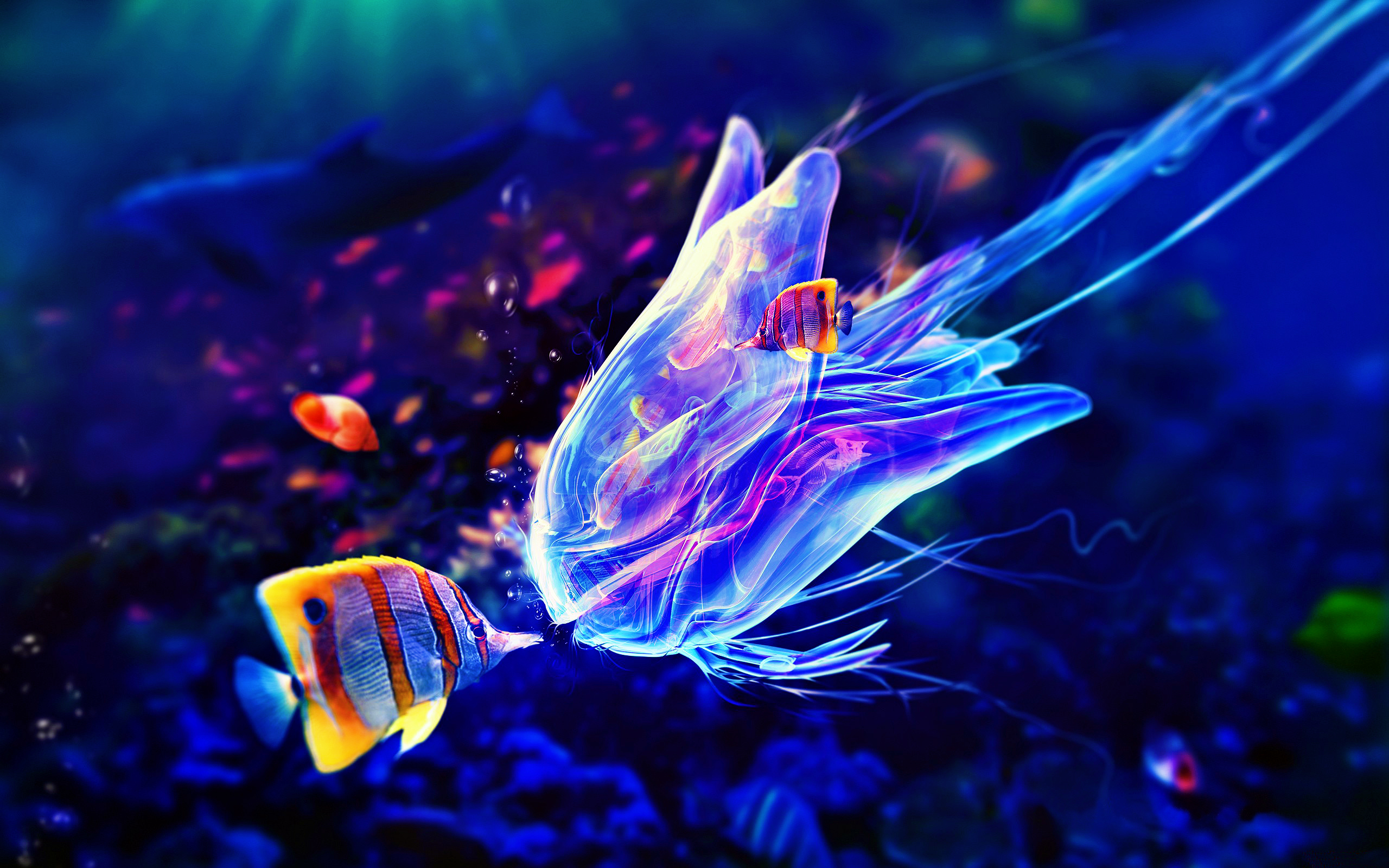 jelly fish 3d