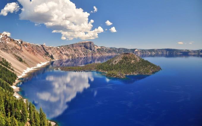lake backgrounds volcanic