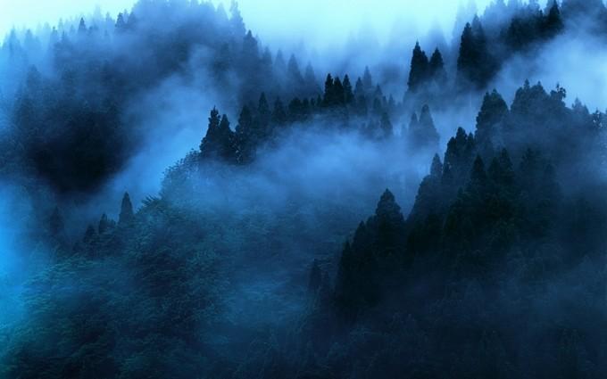 mist wallpaper mountains