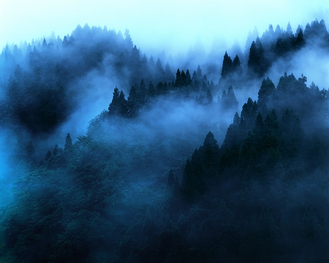 blue mist wallpaper