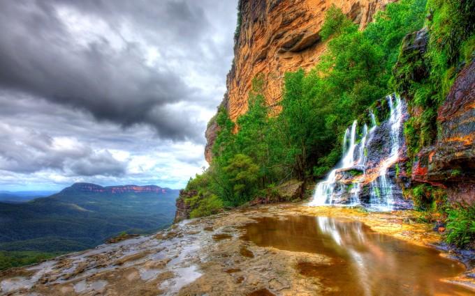 mountain background rocky