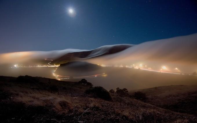 mountain photos fog
