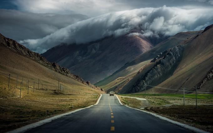 mountain wallpaper road