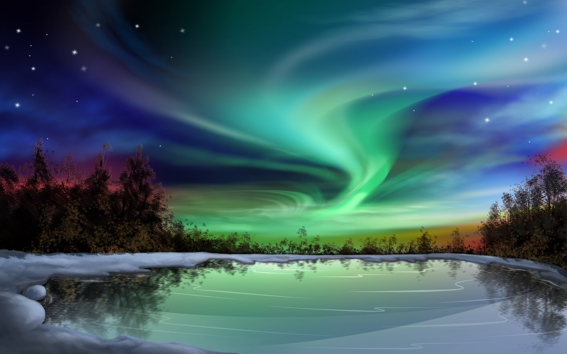 Nature night background hd desktop wallpapers 4k hd - Cool night nature backgrounds ...