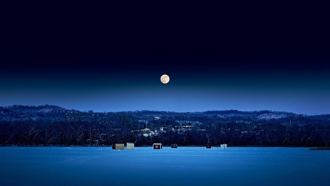 original landscape moon night - photo #31