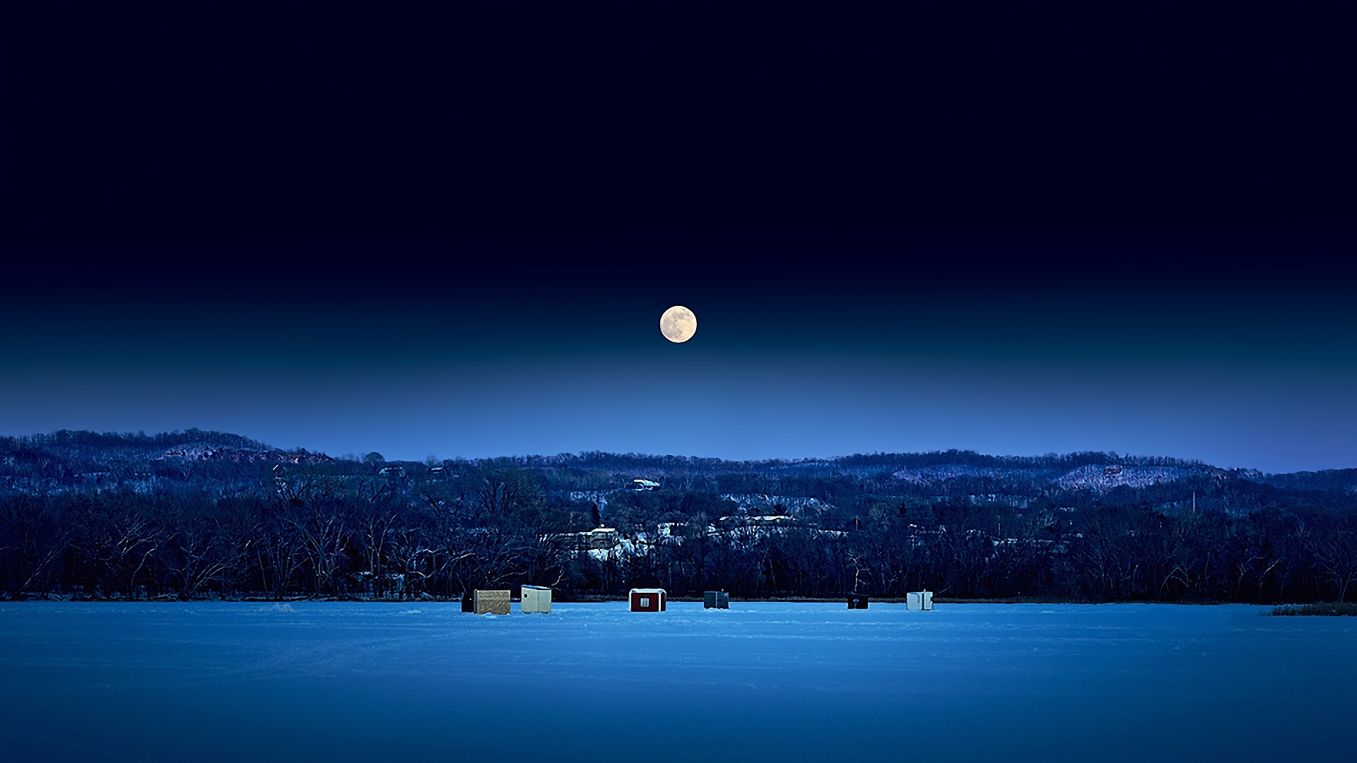 night sky wallpaper landscape