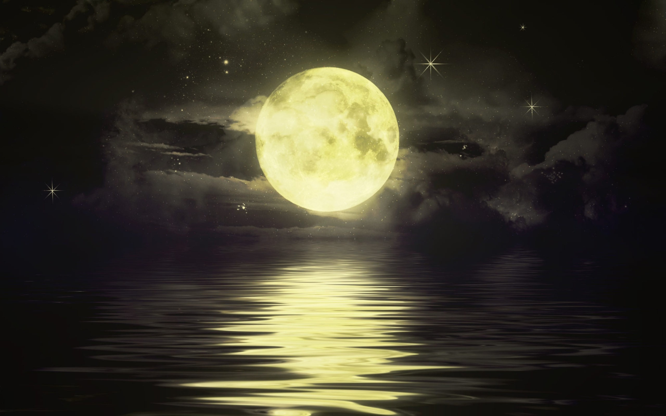 night sky wallpaper moon