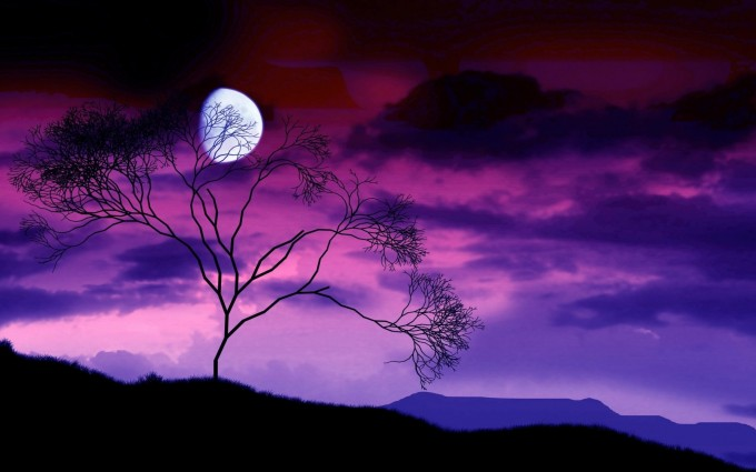 night sky wallpaper purple