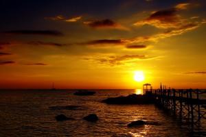 ocean sunset wallpaper 1920x1080p