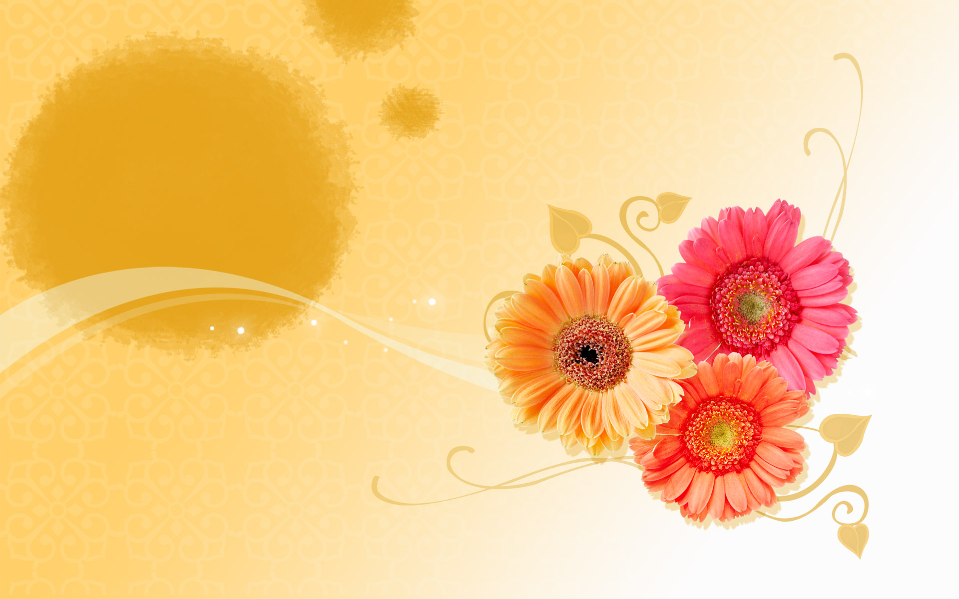 orange flowers art