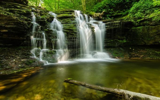 oregon wallpaper forest waterfall