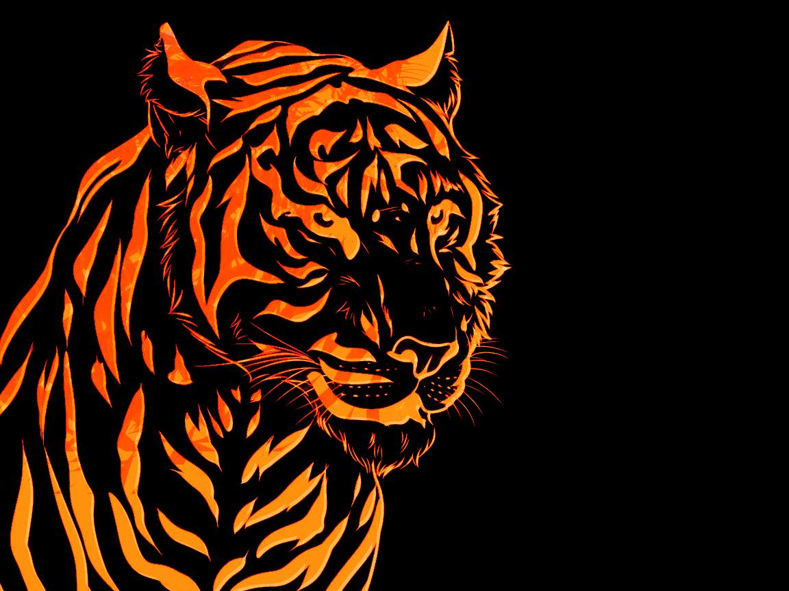 paper tiger wallpaper