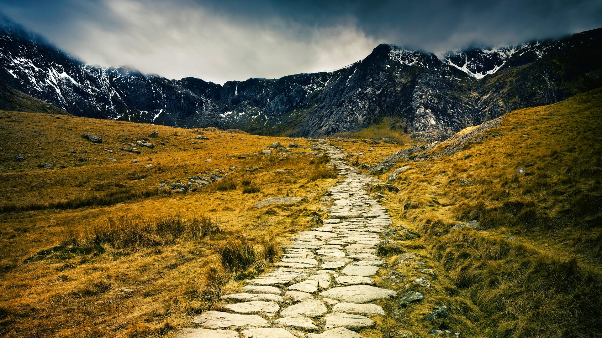 path wallpaper landscape