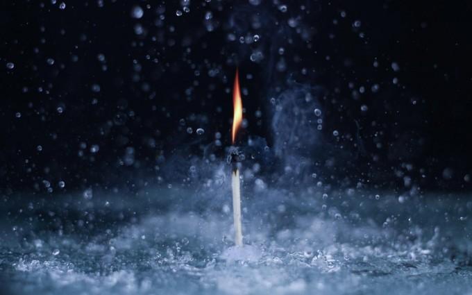 rain fall wallpaper candle