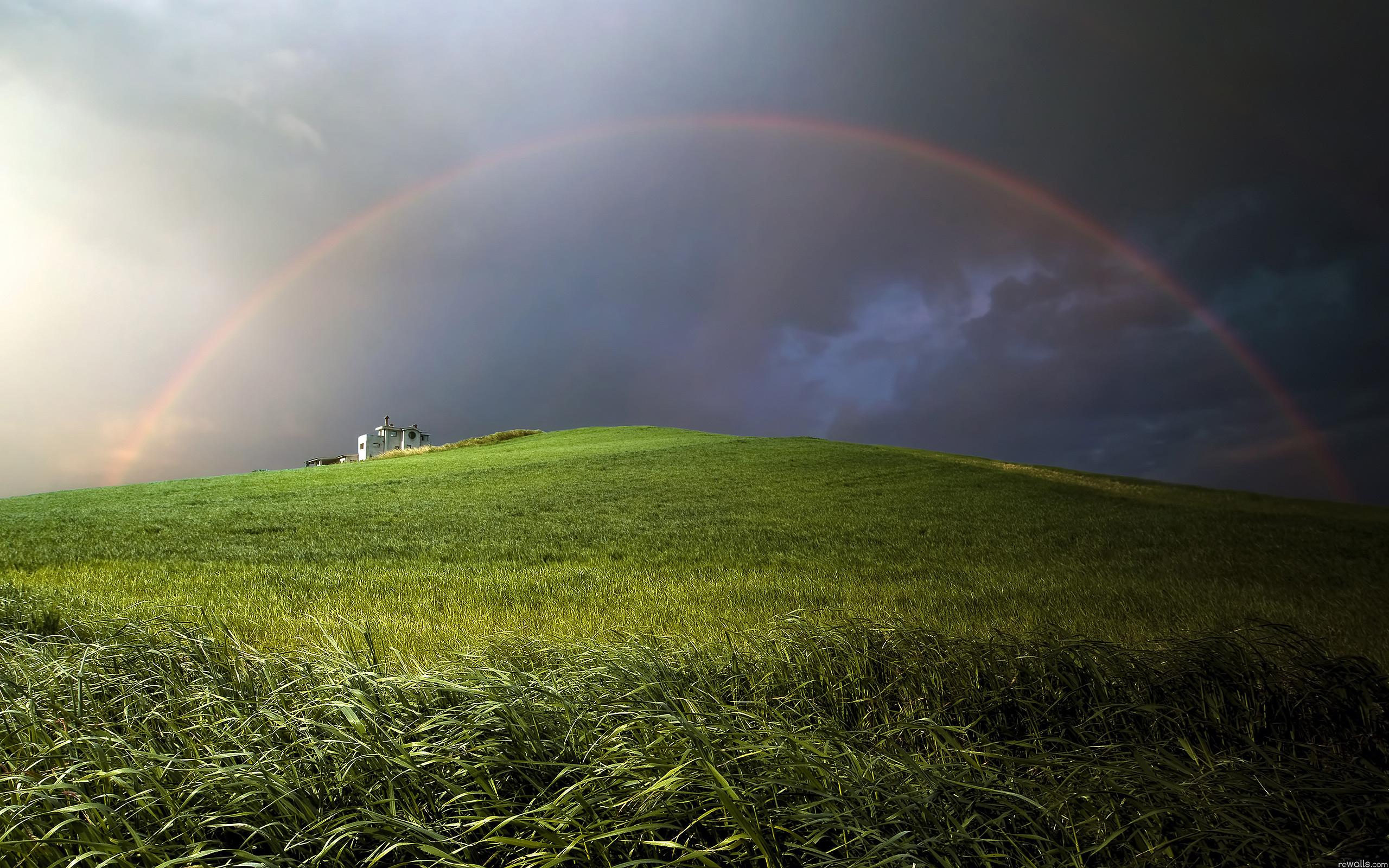 rainbow green mountain