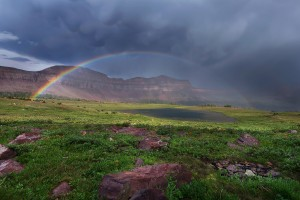 rainbow lake wallpaper