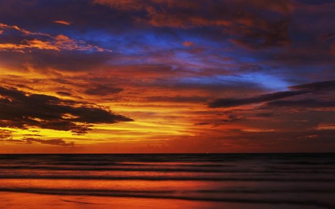 red sunset wallpaper beautiful