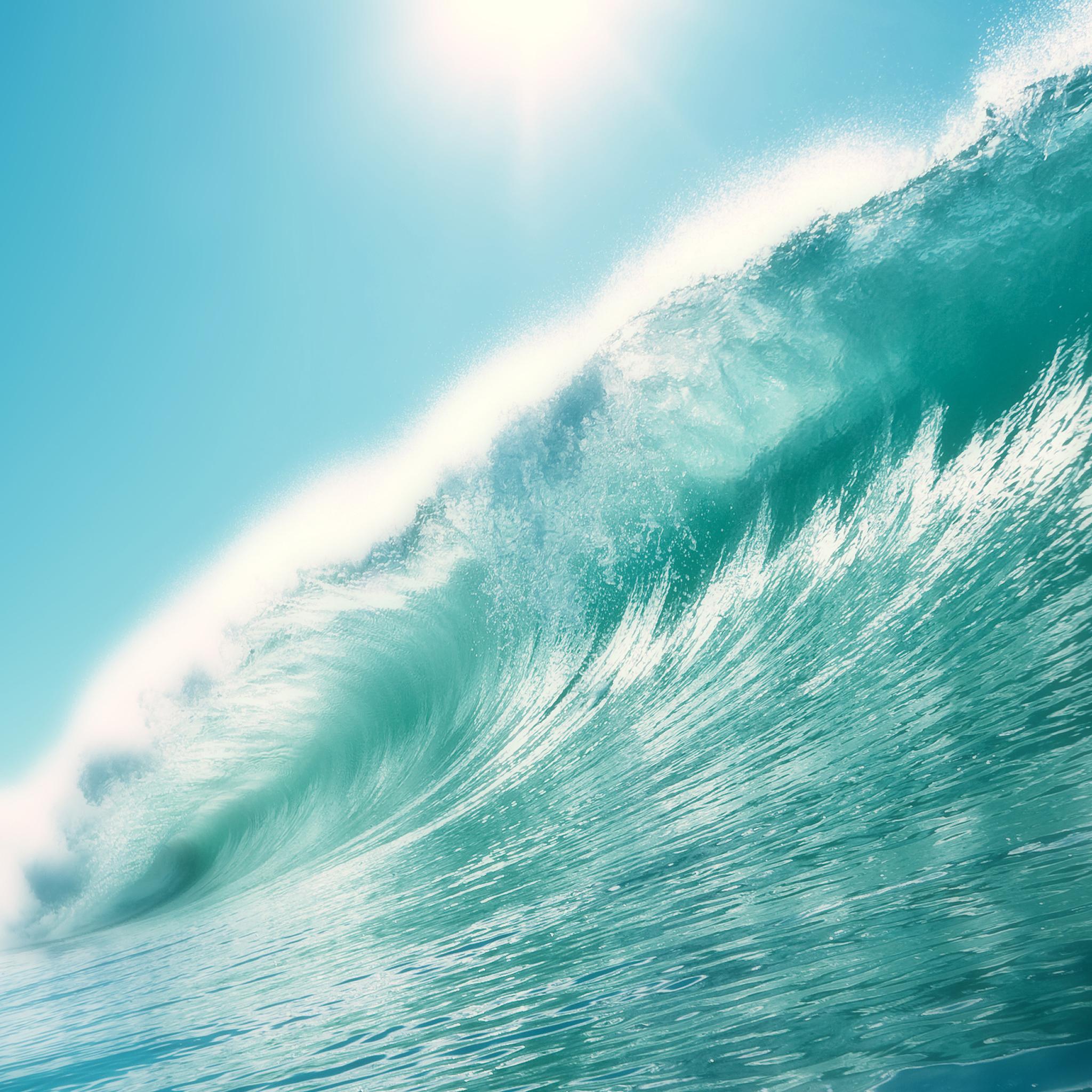Retina Wallpaper Beach Waves - HD Desktop Wallpapers