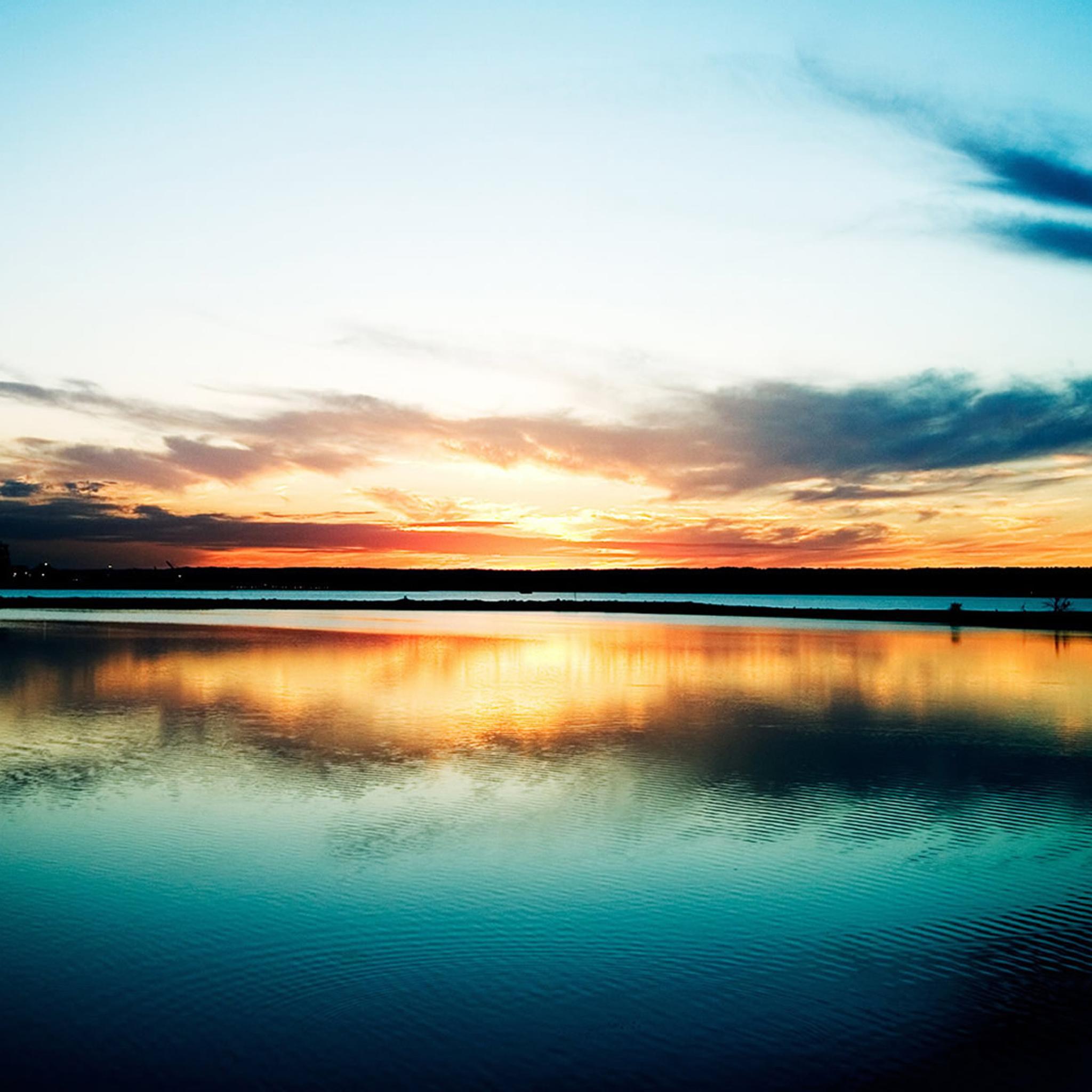 retina wallpaper sunset beach